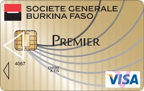 Top Carte VISA Premier ou Gold - Société Générale Burkina Faso NF25